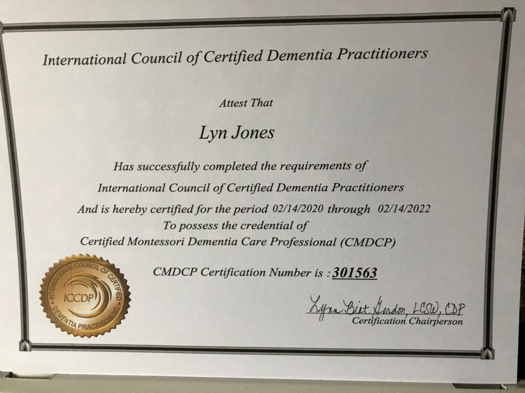 Certified Dementia Practitioners